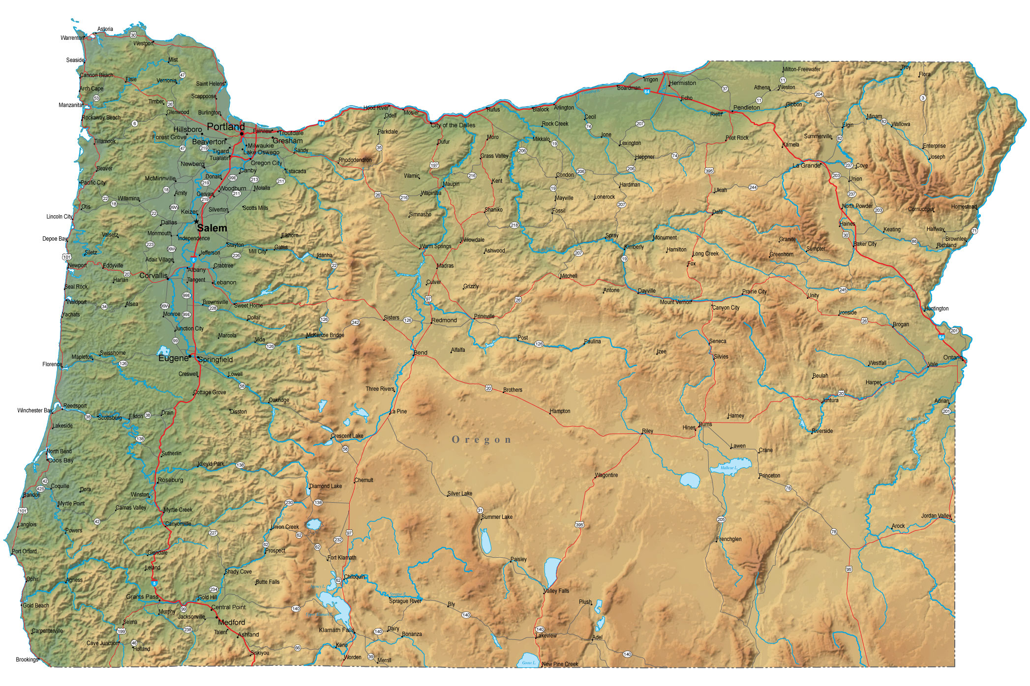 Oregon Map Submited Images